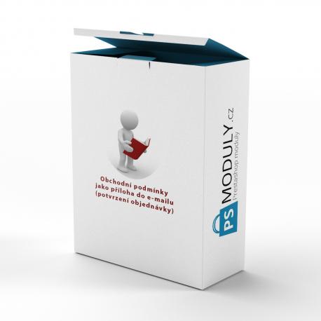 Obchodní podmínky jako příloha do e-mailu (potvrzení objednávky)