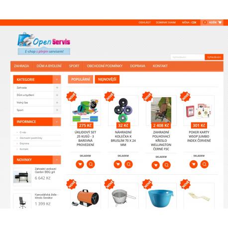 Plně automatický e-shop napojený na dodavatele kokiskashop.cz (Dům a zahrada)
