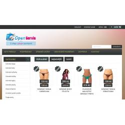 Plně automatický e-shop napojený na dodavatele spodni-pradlo-tiara.cz (Spodní prádlo)