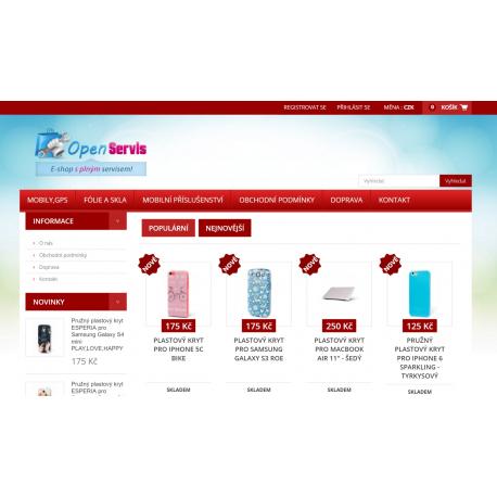 Plně automatický e-shop napojený na dodavatele esperia.cz (Mobilní příslušenství)
