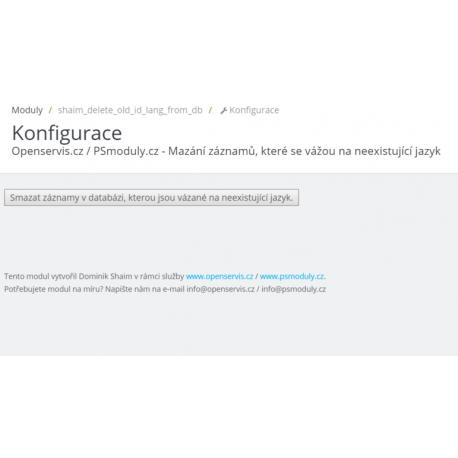 Mazání záznamů, které se vážou na neexistující jazyk