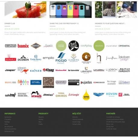 Přidání výrobců (loga) na hlavní stránku