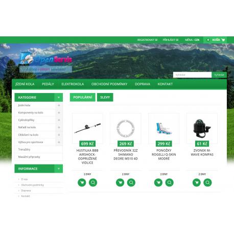 Plně automatický e-shop napojený na dodavatele velostore.cz (Cyklistika)