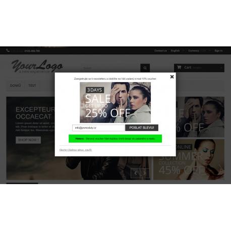 Slevový kupón / voucher při vstupu na web (popup)