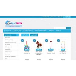 Plně automatický e-shop napojený na dodavatele lampshracky.cz (Hračky)