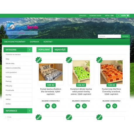 Plně automatický e-shop napojený na dodavatele brotex.cz (Ložní textil)
